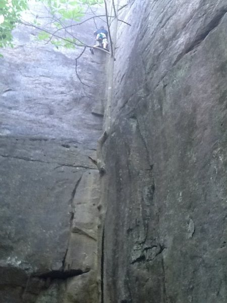 Rock Climbing Photo: Max on jaws. Awesome climb.