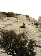 Rock Climbing Photo: Pitch 3. Showing left and right variations.