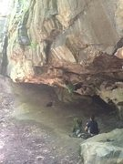Rock Climbing Photo: Bouldering cave