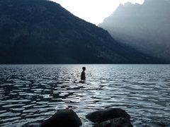 Rock Climbing Photo: Me in Jenny lake.