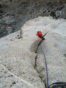 Rock Climbing Photo: Pitch 7. Nice little corner.