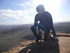 Rock Climbing Photo: at the top of the south 6 shooter tower in Utah