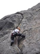 Rock Climbing Photo: Negotiating the crux