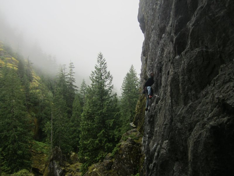 Rock Climbing Photo: Great way to spend a rainy day