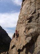 Rock Climbing Photo: Jeff climbing new terrain at the L.S.