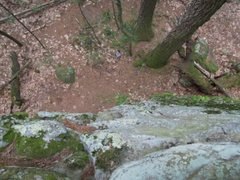 Rock Climbing Photo: Just right of the topout (from climbers perspectiv...