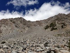 Rock Climbing Photo: The decent without snow. The middle is loose the w...
