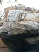 Rock Climbing Photo: Good holds but need to be cleaned often, and there...