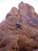 Rock Climbing Photo: taylor at the start just below the antique viewing...