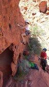Rock Climbing Photo: A really fun climb, cruxy at the second bolt