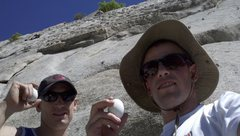 Rock Climbing Photo: Murphski and I with eggs at the Egg.