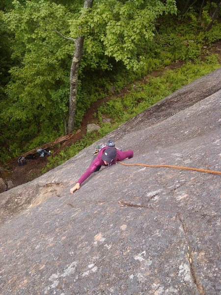 Rock Climbing Photo: M-E Généreux in the first cruxy moves of Cowgirl...