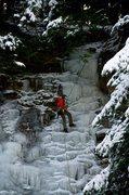 Rock Climbing Photo: Top-roping Little Angel Falls, Naples NY