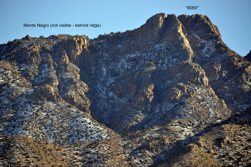 "Peak ""8080"", between Monte Negro and Ladron Peak, Socorro Co., NM"