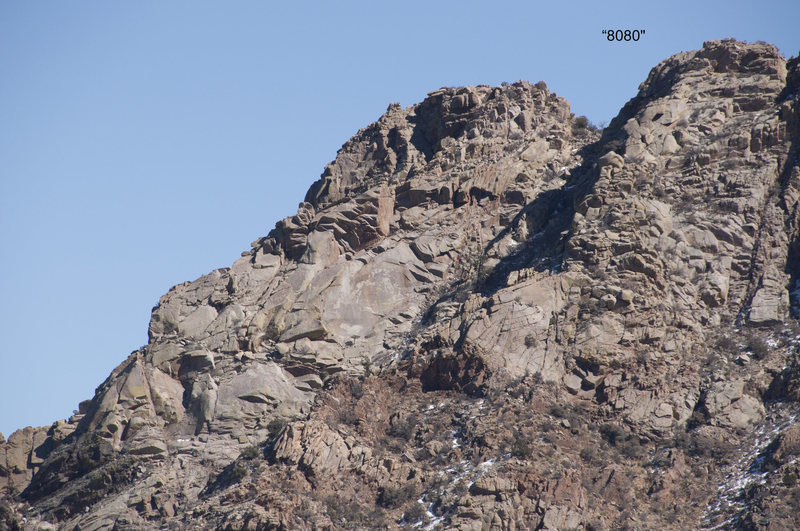 "Rock Climbing Photo: NW face of ""8080""."