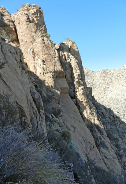 Rock Climbing Photo: Lower formation on the east ridge of Ladron Peak, ...