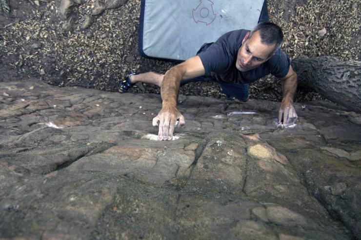 First ascentionist Scott Sanchez.