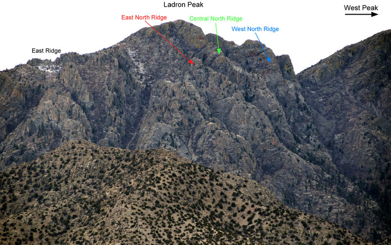 Rock Climbing Photo: North Face of Ladron Peak, Socorro Co., NM.