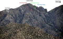 North Face of Ladron Peak, Socorro Co., NM.