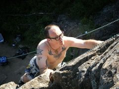 Rock Climbing Photo: Looking for that Bomber Hold