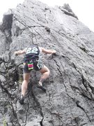 Rock Climbing Photo: Unknown sketchy Route with 1 bolt.