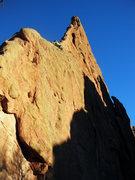 Rock Climbing Photo: Slinging the pothole on Montezuma's Tower, GOG.