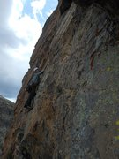 Rock Climbing Photo: Doug on pitch 6.