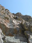 Rock Climbing Photo: Doug starting pitch 2. The two dihedrals that pitc...