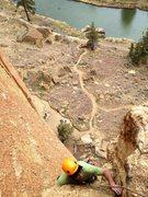 Rock Climbing Photo: Finishing pitch 2 of Zebra Zion, Smith Rock, OR.