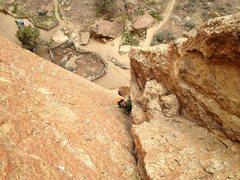 Rock Climbing Photo: Pitch 2 of Zebra Zion, Smith Rock, OR.
