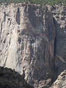 Rock Climbing Photo: Photo from the S. Rim showing the entire route.  F...