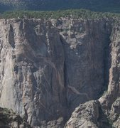 Rock Climbing Photo: Photo from the S. Rim showing the route and the Cr...