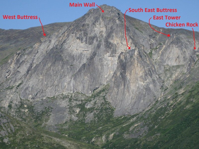 Mt Prindle climbing areas. Photo by Tobin Petty