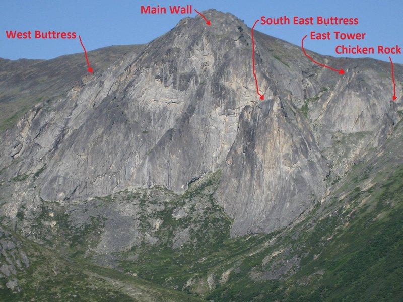 Rock Climbing Photo: Mount Prindle climbing areas. Photo by Tobin Petty