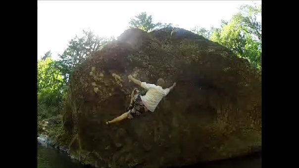 Rock Climbing Photo: Mike onsighting Shallow Hal