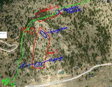 Prospect Mountain Bouldering Zones.