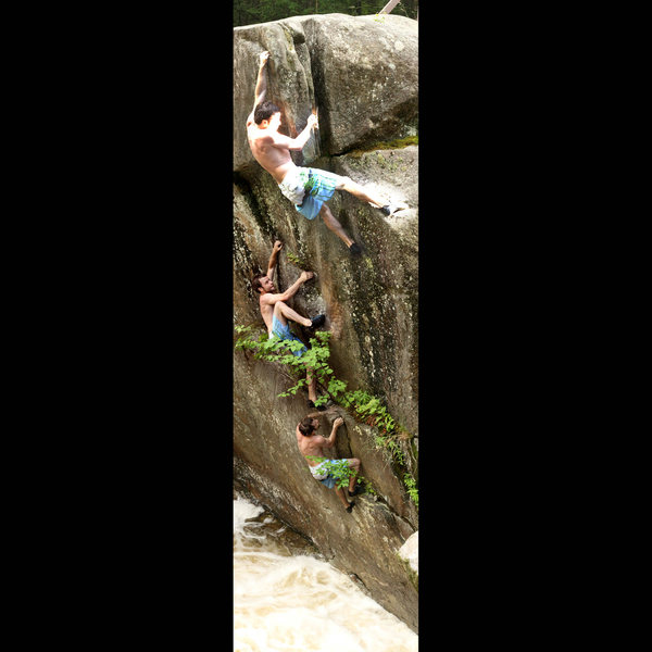 Rock Climbing Photo: details the general sequence of the climb