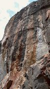 Rock Climbing Photo: Tech X starts in the left-facing corner just left ...
