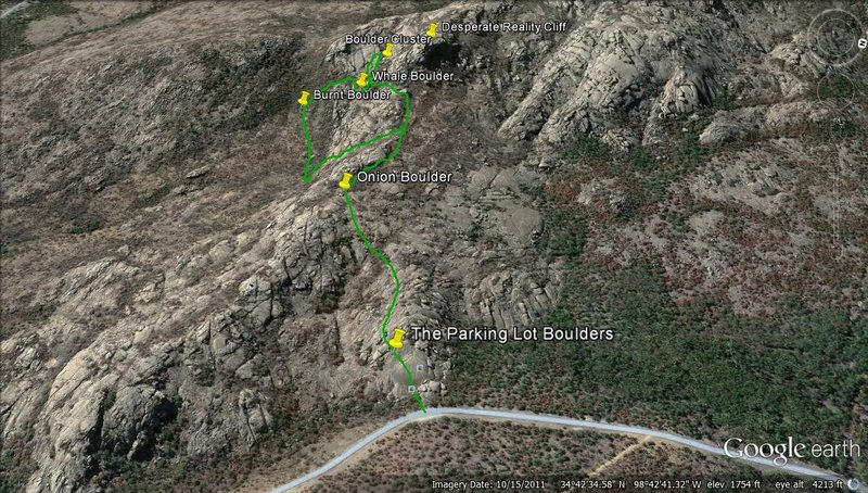 Google map of the bouldering.