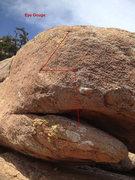 Rock Climbing Photo: Beta Photo for Eye Gouge
