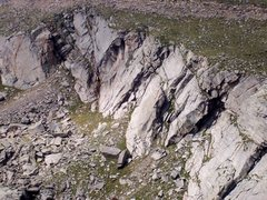 Rock Climbing Photo: Double Exposure topo.  Photo courtesy of Bob Horan...