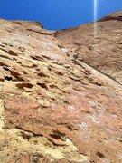 Rock Climbing Photo: Zebra Zion, Belaying Richard Shore from Pitch 1's ...