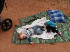 Rock Climbing Photo: This is babysitting at it's finest!