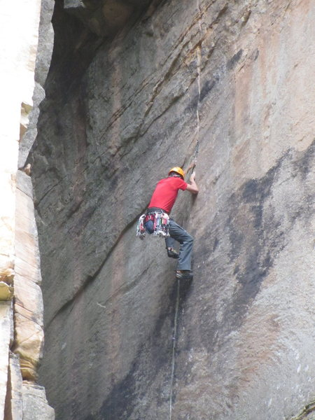 Rock Climbing Photo: the 2nd crux, going right from .5-.75