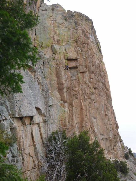 Rock Climbing Photo: Clay at the final crux