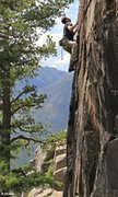 Rock Climbing Photo: Andy climbing in some stunning surroundings at the...