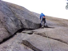 Rock Climbing Photo: Fun route, great for those learning to place gear....