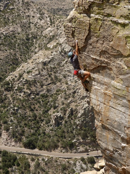 my first 5.11 lead...steve's arete on independence day