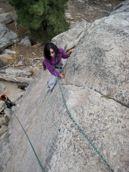 Sara Susca on the upper slab.