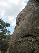 Rock Climbing Photo: Bryn Owen (9) leading Fever Pitch.